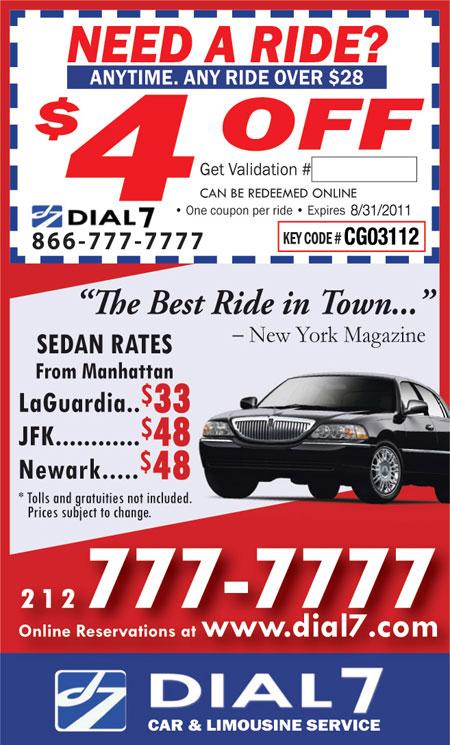 dial 7 car coupon