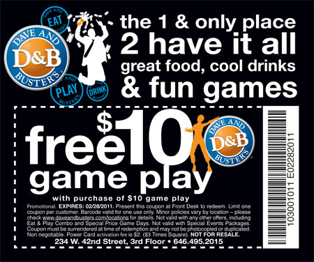 dave and busters printable coupons dave and buster deals lamoureph 21305 | davebuster