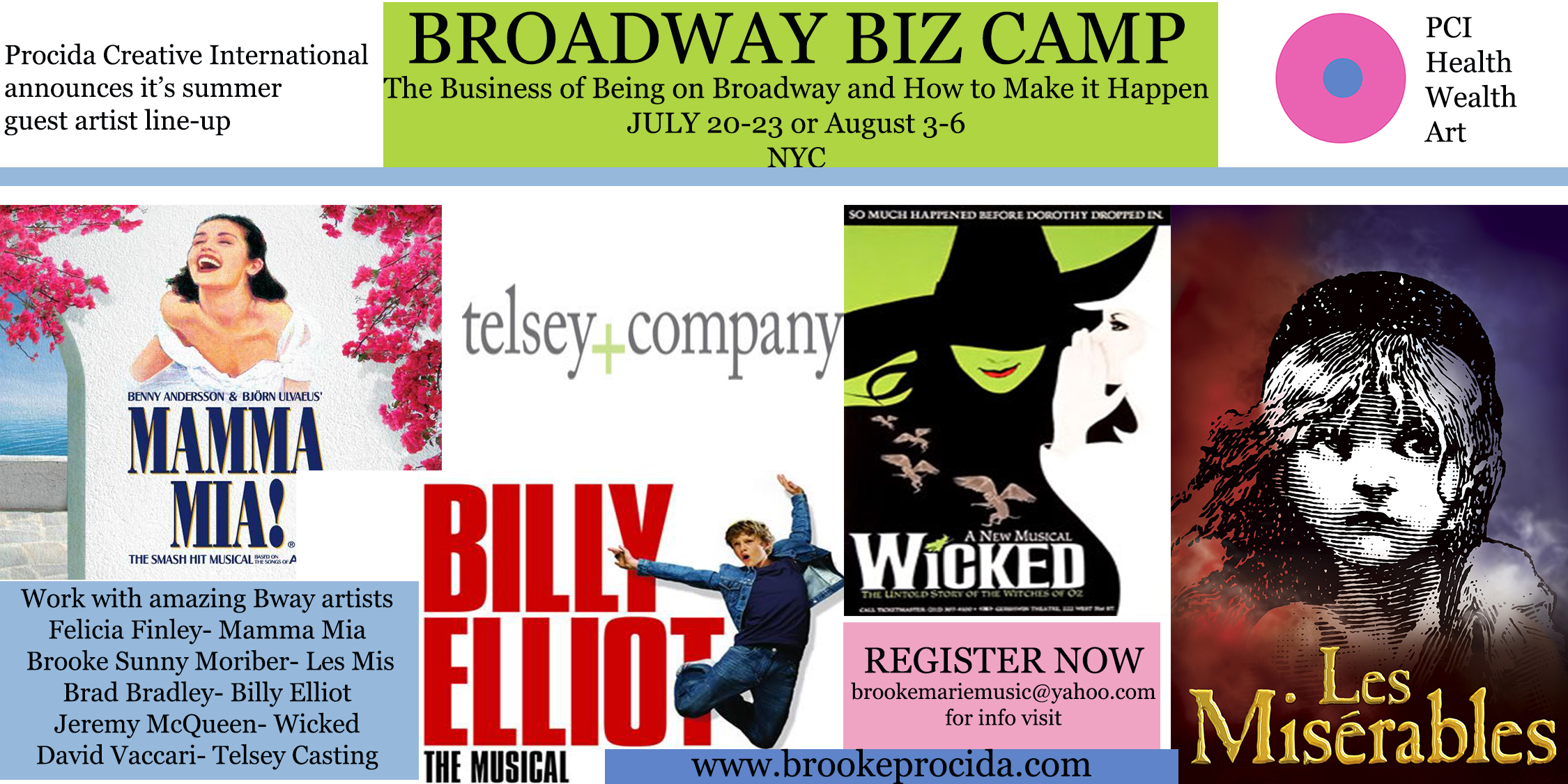 PCI Broadway Biz Camp