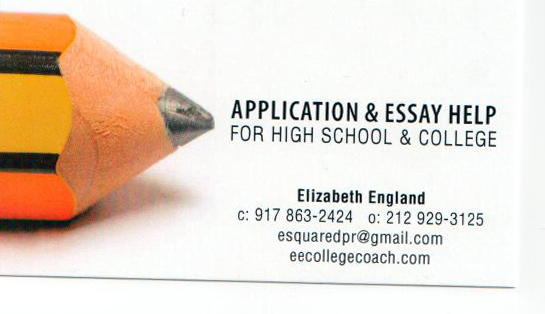 Elizabeth England College & High School Application Coach