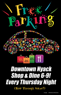 Free Parking in downtown Nyack