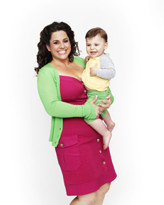 Marissa Jaret Winokur and son Zev