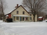 Christmas, winter at Queens County Farm Museum