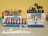 menorah, Hanukkah, kids