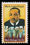 Martin Luther King, Jr., Black Heritage, USA, stamp