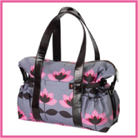 Tiny Tillia Signature Diaper Bag - pink tulip