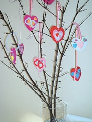 Valentine's Day Heart Tree, Valentine's crafts