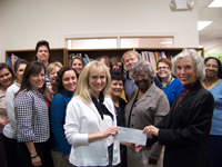KeyBank presents check to Child Care Resources of Rockland