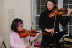Sharps & Flats, Ridgefield, CT; playing the violin; violin lessons