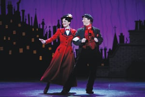Mary Poppins the musical, on Broadway