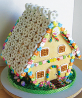 Easter or Passover gingerbread house