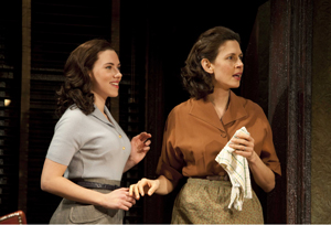 "Scarlett Johansson, Jessica Hecht in ""A View from the Bridge"" on Broadway"