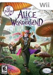 Alice in Wonderland for Wii; Alice in Wonderland video game; Johnny Depp as the Mad Hatter