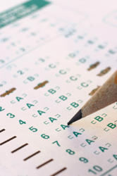 NYS standardized assessment tests; test taking; multiple choice test; No Child Left Behind