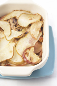 pear and apple kugel; kugel recipe; passover dessert dish; passover recipe