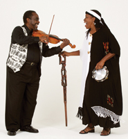 John Blake Quartet and Charlotte Blake Alston; Tellin on the Downbeat; children's folktale singers