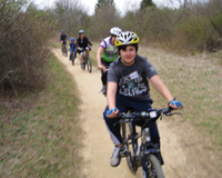 Pedal for the Planet; Stillwell Woods Preserve; Long Island; mountain bike riding; kids riding bikes