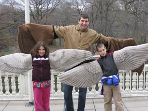 Audubon Center, Prospect Park; kids playing outdoors; children learning about birds