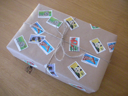 recycled gift wrap; Earth Day arts and crafts