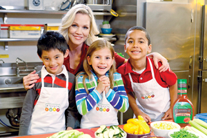 Jennie Garth, spokesperson for Hidden Valley's Love Your Veggies campaign