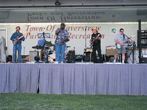 The Hip Pocket Band performs classic rock; free summer concerts in Rockland County, NY; free family concerts