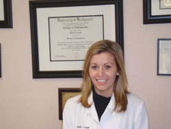 Dr. Danielle Luzzo, owner of Greenwich Chiropractic and Nutrition in Greenwich, CT