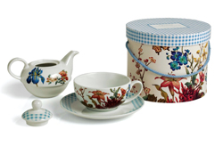 Tea for One Service Gift Box Floral Garden