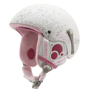 k2 shadown helmet in pearl white; junior ski helmet; junior snowboard helmet