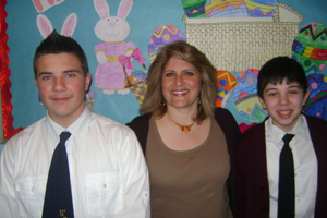 Pantelis Zioulis, Evthoxia Panos, and John Ades at Jamaica Day School