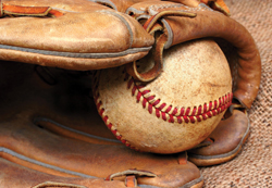 baseball mitt; glove; baseball