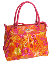 Hadaki Cool Tote in orange/pink