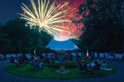 Caramoor Center for Music and Arts fireworks display; fourth of july fireworks, westchester county, ny; katonah, ny