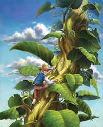 Jack and the Beanstalk; cartoon; drawing