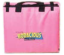 bodacious beach blanket in pink