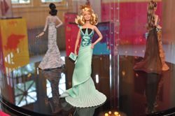 Statue of Liberty Barbie doll at Barbie Collector Dolls of the World exhibit