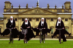 Sound of Music; nuns riding bikes