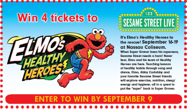 win tickets to sesame street live: elmo's healthy heroes at nassau coliseum