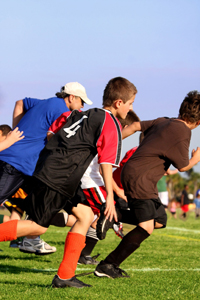 boys playing soccer; young boys playing sports; aftetr-school activities