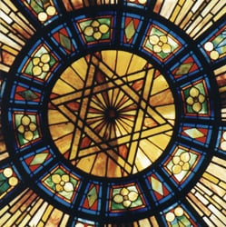 Free Synagogue of Flushing; stained glass window