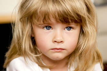 little girl with autism; how to detect early signs of autism
