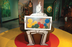 Wizard of Oz children's museum exhibit; the Tin Man