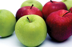 apples; red and green; granny smith and red delicious apples; multiple varieties of apples