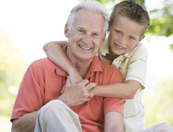 young boy and his grandfather