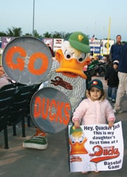 Long Island Ducks; Quacker Jack and fans