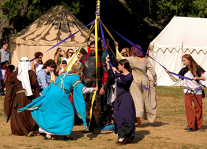 maypole dance; sands point preserves' medieval festival