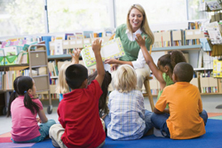 story time in a classroom; story telling circle
