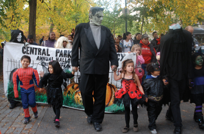Halloween Parade in Central Park; Central Park Conservancy's Annual Halloween Parade