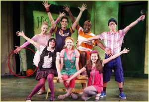 The cast of Freckleface Strawberry the Musical
