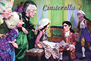 Cinderella play by marionettes, puppets