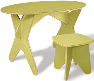 Boogie Board green desk and stool from Ecotots